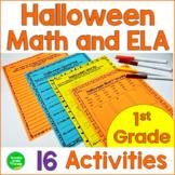 Halloween Math and ELA Activities