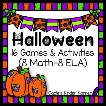 Halloween Math and ELA Games & Activities!