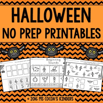 Halloween Math and ELA - No Prep