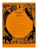 4th/5th/6th Grade Halloween Math and Language Arts Packet- great for stations!