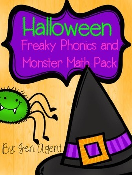 Monster Math + Freaky Phonics Pack {Math and Literacy}