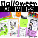 Halloween Craft  Math and Literacy Activities