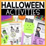 Halloween Craft  Math and Literacy Activities