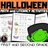 Halloween Math and Literacy Activities (1st and 2nd grade)