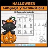 Halloween Spanish Math and Literacy Activities