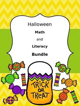 Halloween Math and Literacy Activity Book BUNDLE