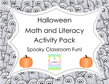 Halloween Math and Literacy Activity Pack