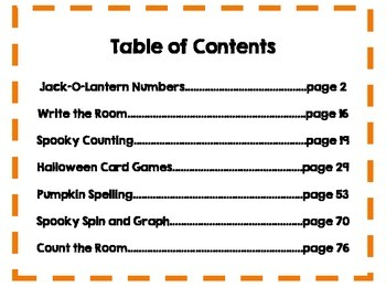 Halloween Math and Literacy Bundle {{81 PAGES}}!!