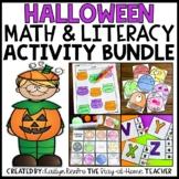 Halloween Math and Literacy Bundle for Preschool