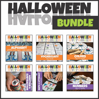 Halloween Math and Literacy Center BUNDLE