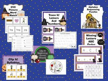 Halloween Math and Literacy Center Fun!