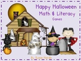 Halloween Math and Literacy Center Games