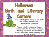 Halloween Math and Literacy Centers- Kindergarten