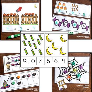 Halloween Math and Literacy Centers - Kindergarten (The Bundle)