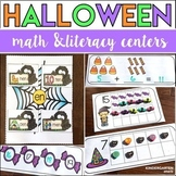 Halloween Math and Literacy Centers - Kindergarten (The Bundle)