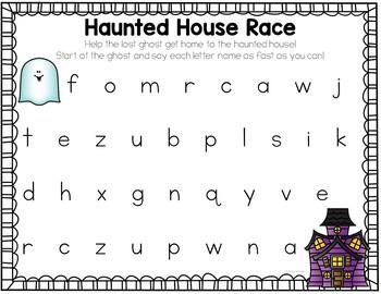 Halloween Math and Literacy Centers {for Kindergarten}