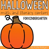 Halloween Math and Literacy Centers {for Kindergarten}