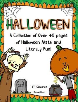 Halloween Math and Literacy Fun Activities