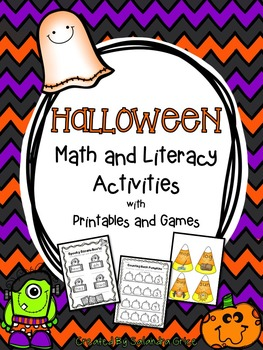 Halloween Math and Literacy Printables and Games