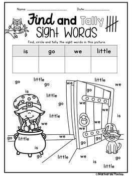 Halloween Math and Literacy Pack (Kindergarten - 1st Grade)