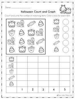 Halloween Math and Literacy Pack (No Prep - Print and Go)
