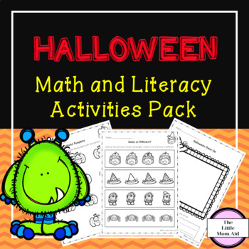 Halloween Math and Literacy Worksheets | Morning Work