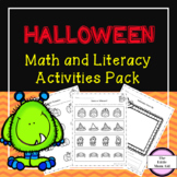 Halloween Math and Literacy Activities and Centers: Presch