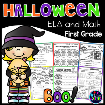 Halloween Activities for First Grade Math and Literacy Halloween Worksheets