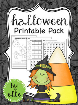 Halloween Math and Literacy Printable Pack