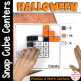 Halloween Math and Literacy Snap Cube Activities