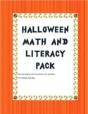 Halloween Math and Litereacy Pack