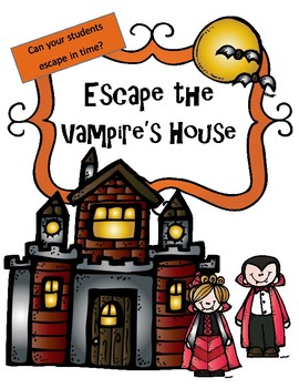 Halloween- Math and Reading Escape Room: Escape the Vamipire's House 3rd/4th