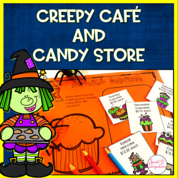 Halloween Math and Writing Activities: Creepy Cafe and Candy Store