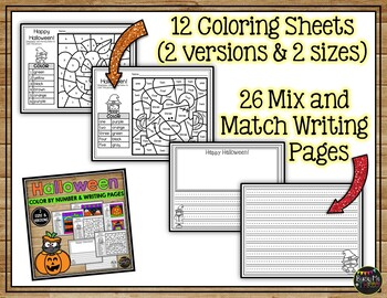Halloween Math and Writing Activities and Worksheets No Prep