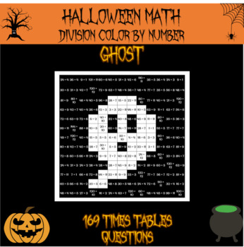 Halloween Math - division color by number Halloween mystery picture