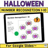 Halloween Math for Google Slides™  Number Recognition 1 to 10