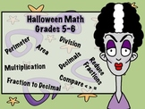 Halloween Math for Grades 5 and 6