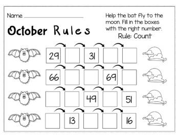 Halloween Math for Kindergarten - NO PREP Packet