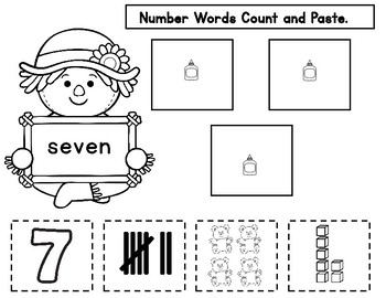 Halloween Math for Kindergarten and First Grade