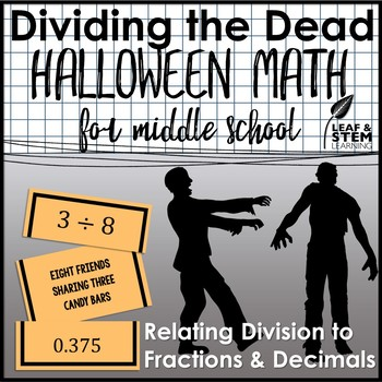 Halloween Math for Middle School Rational Numbers as Decimals