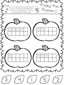Halloween Math in Kindergarten * Counting * Patterns * Graphing * Addition