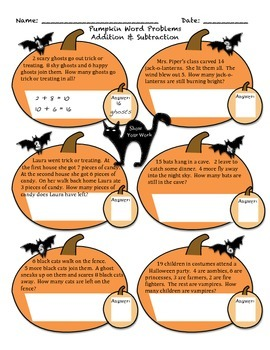 Halloween Math- line plots, word problems, expanded form, common core