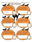 Halloween Math- line plots, word problems, expanded form,