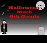 Halloween Math problems grades 4-6