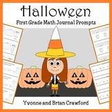 Halloween Math Journal Prompts (1st grade) - Common Core