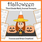 Halloween Math Journal Prompts (3rd grade) - Common Core