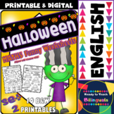 Halloween Maths Funny Worksheets for P-K, K and 1st Grade - Set 2