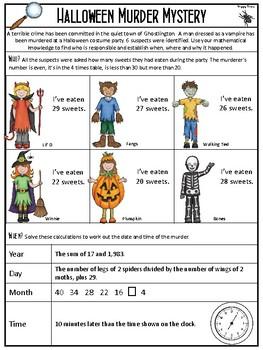 Halloween Maths Murder Mystery