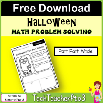 ** FREE DOWNLOAD ** Halloween Part Part Whole Math Problem