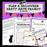 Halloween Math Project Plan a Party US
